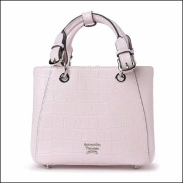 70818551d035 サマンサタバサ NEOルイーザ新色 ナノ クロコ型押し 3way ハンドバッグ ピンク