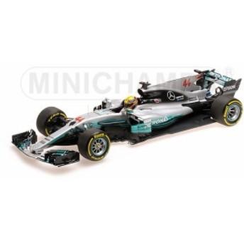 ミニチャンプス 1:18スケール ダイキャストモデル 2017年スペインGP メルセデス AMG ペトロナス F1 W08