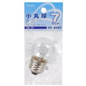 オーム電機 ミニボール球 G40型 E26/7W クリア [品番]04-6487 型番 LB-G4607-C