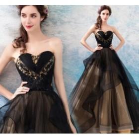 チュールスカート ナイトドレス ワンピース 上品 クオリティー ロング丈ワンピ-ス ミドリフトップ 大人の魅力 パーティードレス