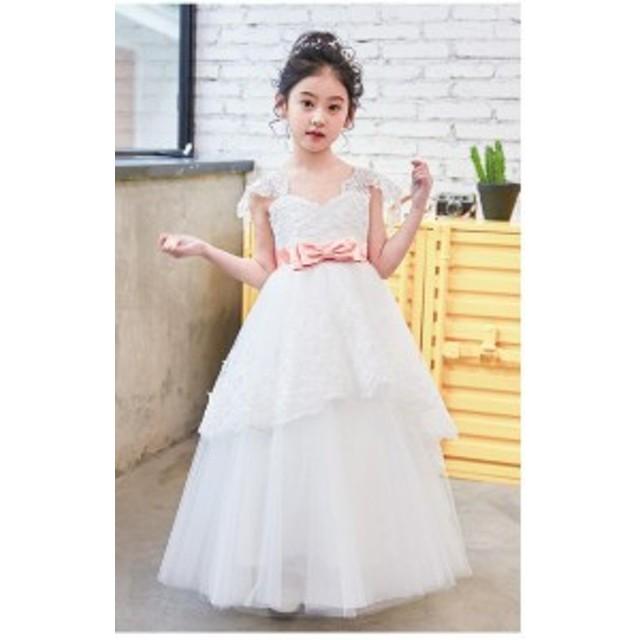 af7471f9d3b1a 子供ドレス ピアノ発表会 ドレス 結婚式 白 子供服 女の子 フォーマルワンピース 100 110