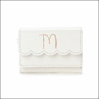 サマンサタバサ プチチョイス イニシャルシリーズ ミニ財布 M ホワイト