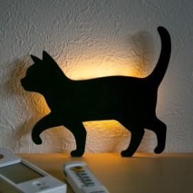 LEDライト Thats Light! CAT WALL LIGHT おさんぽ ( 足元灯 LED 猫 フット ライト ウォールライト ねこ おしゃれ センサーライト 屋内