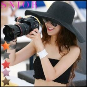 【帽子】 ワイヤー入りバンブーリゾートハット 女優帽 リゾートハット 麦わら帽子レディースつば広 むぎわら UV対策 ダンス