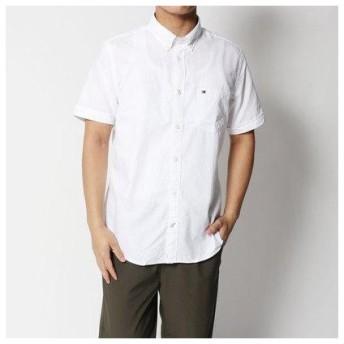 トミーヒルフィガー TOMMY HILFIGER ショートスリーブレギュラーフィットシャツ (ホワイト)