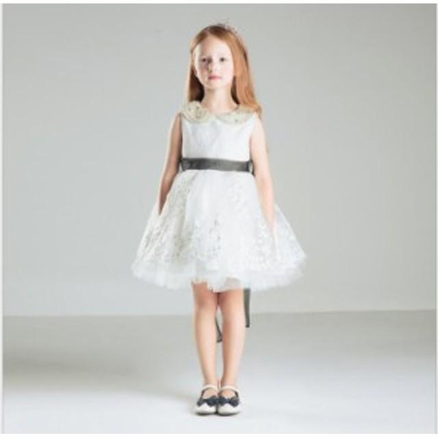 f3fbaf4a51d57 新品 子供ドレス ピアノ発表会 子どもドレス フォーマル ワンピース 結婚式 七五三 白 ホワイト