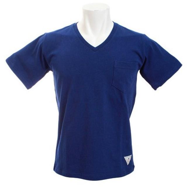 CHRISTIAN 24 Vネック ポケット 半袖Tシャツ CH24M030 NVY (Men's)