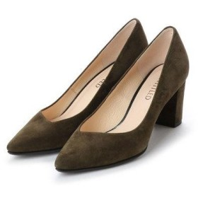 アンタイトル シューズ UNTITLED shoes ポインテッドプレーンパンプス (カーキスエード)