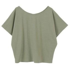 ティティベイト titivate ゆるラウンドネックTシャツ (ライトカーキ)