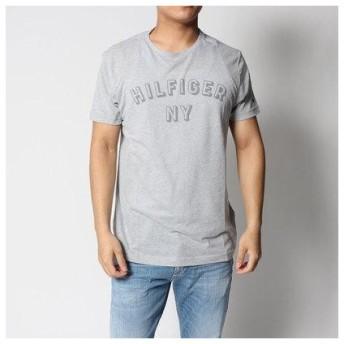 トミーヒルフィガー TOMMY HILFIGER NYロゴヘザーTシャツ (グレー)
