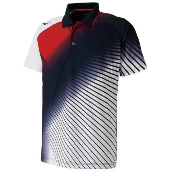 MIZUNO SHOP [ミズノ公式オンラインショップ] ドライサイエンスゲームシャツ(ラケットスポーツ)[ユニセックス] 14 ディープネイビー 62JA8506