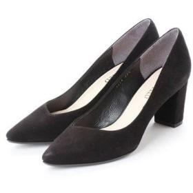 アンタイトル シューズ UNTITLED shoes ポインテッドプレーンパンプス (ブラックスエード)