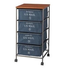 東谷/あづまや  【納期未定】US MAIL/USメール チェスト 4段 ネイビー MIP-374NVN サイズ:W43×D44×H84cm