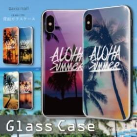 db78abd727 ガラスケース iPhone XS iPhone8 ケース 背面ガラス TPU スマホケース おしゃれ 海外 ALOHA SUMMER LOVE サマー