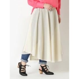 【大きいサイズレディース】【フリー:L-LL対応】メッシュロングスカート スカート ロングスカート