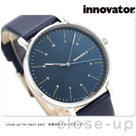 イノベーター エンケル 38mm ダークブルー IN-0005-5 Innovator メンズ 腕時計 革ベルト