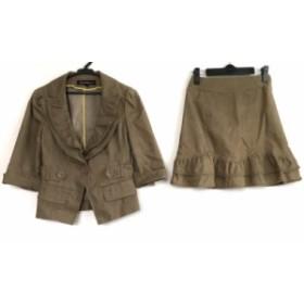 ナネットレポー nanettelepore スカートスーツ サイズ2 S レディース 美品 ブラウン【中古】