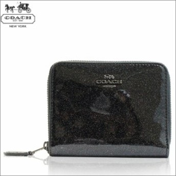 コーチ COACH 財布 折財布 二つ折り財布 レディース グリッター パテント レザー アウトレット ブランド ブラック f29950qbm2 新品 coach