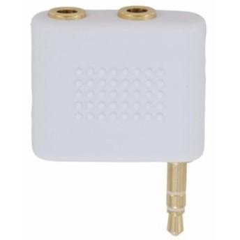 変換アダプター φ3.5ステレオミニプラグ+φ3.5ステレオミニジャック×2 IP-PS2J-W