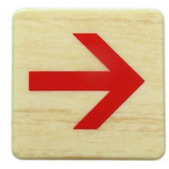 木目赤矢印 MAB446-3