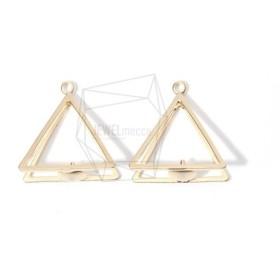 PDT-1469-MG【2個入り】レイヤード トライアングルペンダント,Layered Triangle Pendant