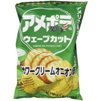 アメポテ ウェーブカット サワークリームオニオン味 ( 100g )