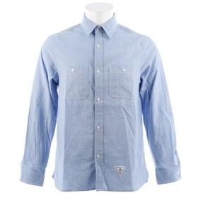 CHRISTIAN 24 シャンブレー ロングスリーブシャツ CH24M037 SAX (Men's)