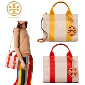 Qoo10クーポン使えます♪ TORY BURCH ☆ MILLER CANVAS MINI TOTE