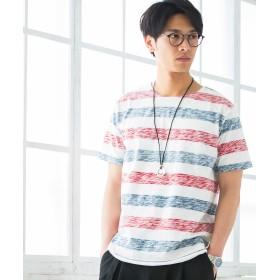 Tシャツ - WEGO【MEN】 アクセ付き裏刷り総柄T(S) BR18SM04-M010