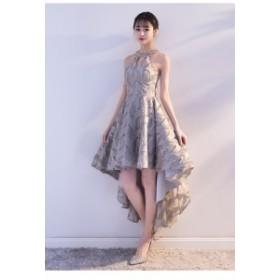 グレーイブニングドレス