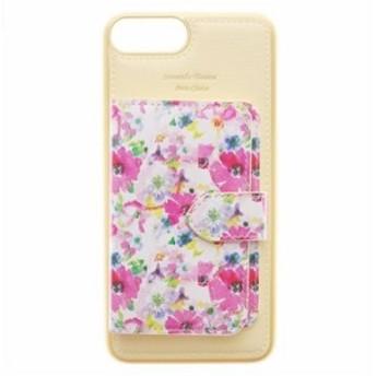 サマンサタバサプチチョイス モバイルケース 花柄ミラー付着せ替えケース iPhone 6 plus-8 plus イエロー