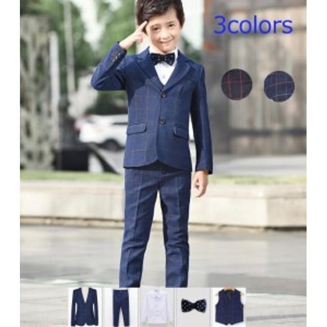 4859b77220e58 子供スーツ 男の子 入学式 卒業式 6点セット キッズスーツ ジュニア 子供フォーマルスーツ