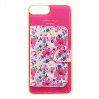 サマンサタバサプチチョイス モバイルケース 花柄ミラー付着せ替えケース iPhone 6 plus-8 plus フューシャピンク