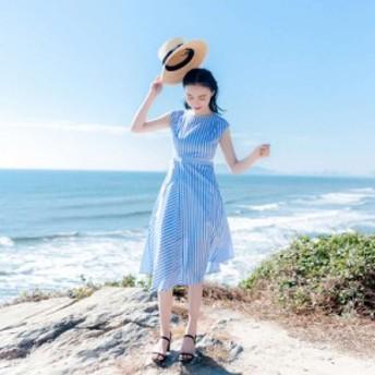 夏が似合う女性になれる☆ストライプドレススカート