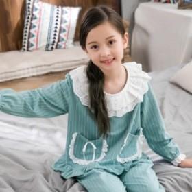 子供服 パジャマ キッズ 女の子 ルームウエア 春 夏 長袖 上下セット おしゃれ 可愛い 綿パジャマ 寝巻き 大きいサイズ 小さいサイズ