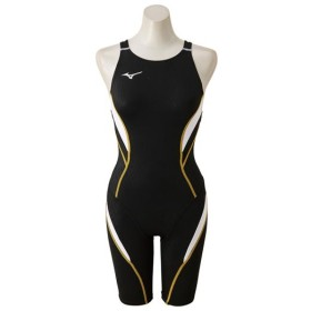MIZUNO SHOP [ミズノ公式オンラインショップ] 競泳用ハーフスーツ(オープン)[レディース] 90 ブラック×ホワイト N2MG8240