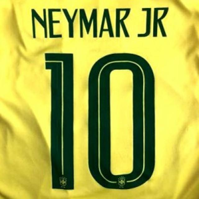 4a36b423077e5f 子供用 K012 20 ブラジル NEYMAR JR10 ネイマール 黄 ゲームシャツ パンツ付 /サッカー/