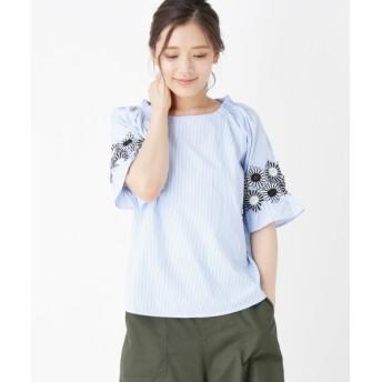 シャツ - Cutie Blonde レーススリーブゆるシルエットシャツ