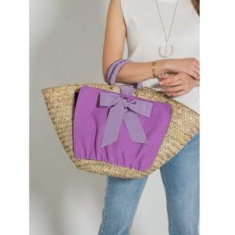 スタイルデリ 02 cross wrap ribbon basket bag レディース パープル F(フリーサイズ) 【STYLE DELI】