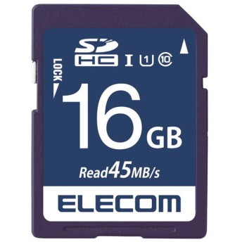 ELECOM MF-FS016GU11R SDHCカード データ復旧サービス付 UHS-I U1 45MB s 16GB SDHCメモリーカード