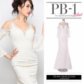 JEANMACLEAN ドレス ジャンマクレーン キャバドレス ナイトドレス ロングドレス jean maclean ホワイト 白 9号 M 177956 クラブ スナック