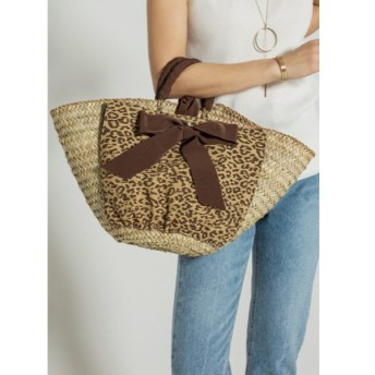 スタイルデリ 02 cross wrap ribbon basket bag レディース ベージュ F(フリーサイズ) 【STYLE DELI】