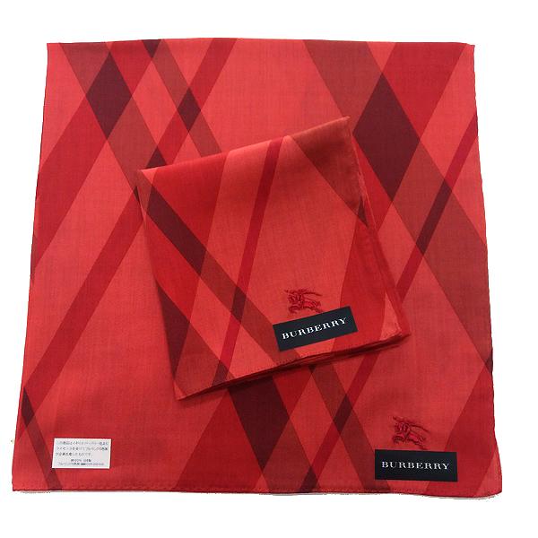 BURBERRY 手帕/棉巾 日本進口/100%純棉全新現貨附信封袋(紅色戰馬)