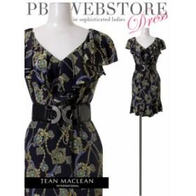 JEANMACLEAN ドレス ジャンマクレーン キャバドレス ナイトドレス ワンピース jean maclean ダークブルー 紺 9号 M 11号 L 01228 クラブ