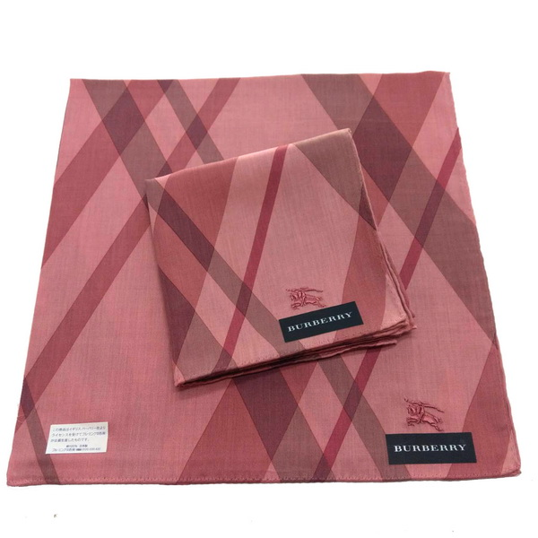 BURBERRY 手帕/棉巾 日本進口/100%純棉全新現貨附信封袋(粉紫戰馬)