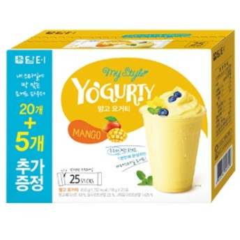 『ダムト』ヨーグルティー【マンゴー味】|パウダーヨーグルト360g(18gx20本) 韓国ドリンク 韓国飲料 健康飲料 韓国食品