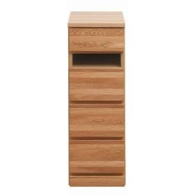 天然木ナラ無垢板のスリムチェスト 幅30.5cm(送料無料)(収納家具、チェスト、キャビネット、リビング収納家具)
