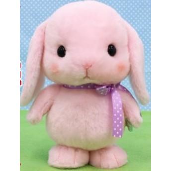 まねっこトコトコろっぴー みみぴょん 21cm 4534943725196(送料無料)(うさぎ、ウサギ、兎、人形、玩具、おもちゃ、ぬいぐるみ、