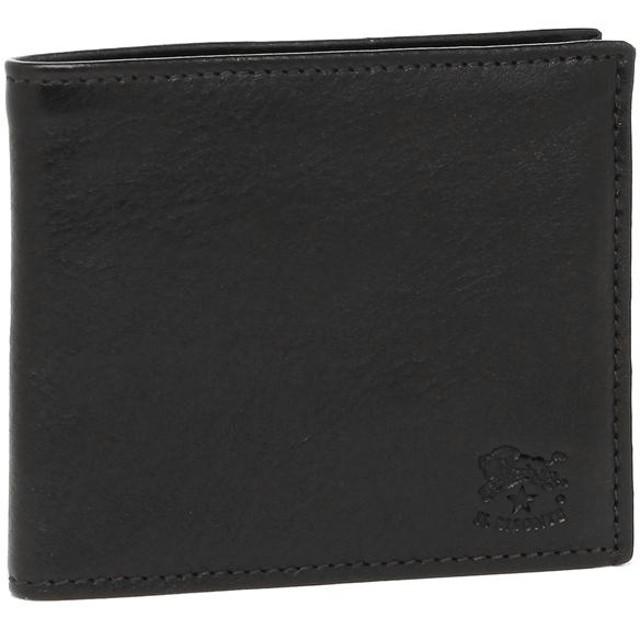 【送料無料】イルビゾンテ 折財布 メンズ レディース IL BISONTE C0487P 153 ブラック