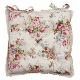 (マリー)チェアパッド(花柄・バラ柄)(MA-222)  (送料無料) (クッション、座布団、チェアー・椅子備品、インテ